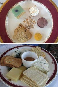 Afternoon High Tea at the Biltmore Estate in Asheville NC. Biscuits and other tasty treats