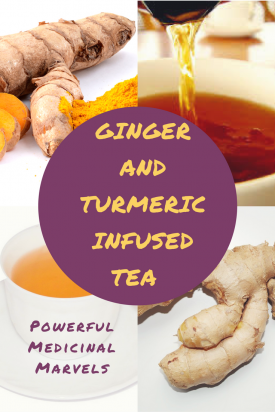 ginger and turmeric infused tea
